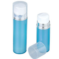 Capless airless bottle