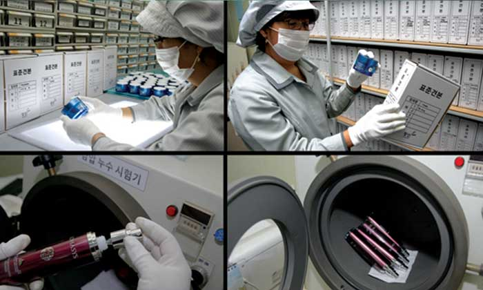 beauty packaging production quality testing and control