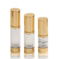 Plastic Gold Airless Containers