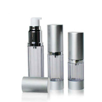 Airless Cosmetic Bottle with Aluminum Cap