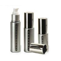 Aluminum Shiny Metalic Airless Bottle